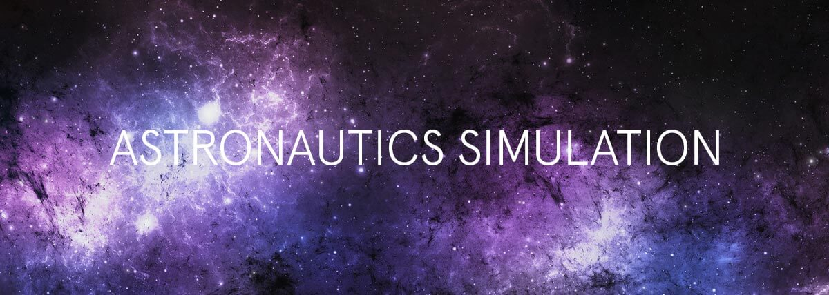 Astronautics Simulation text on a space background