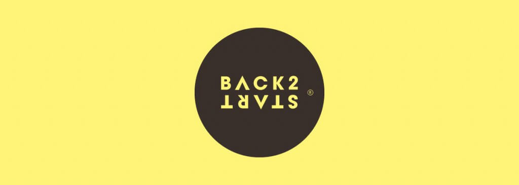 Back2Start Logo with yellow background