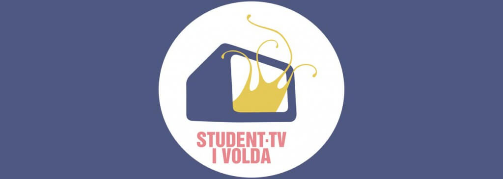 Tv with student-tv i volda text below